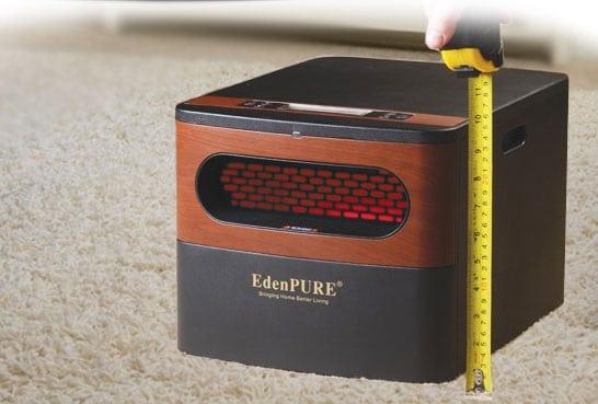EdenPURE GEN2 Heater | Actual Size