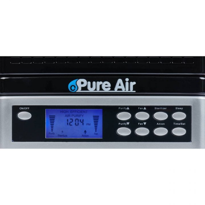 O3 Pure Air Purifier | Front Controls