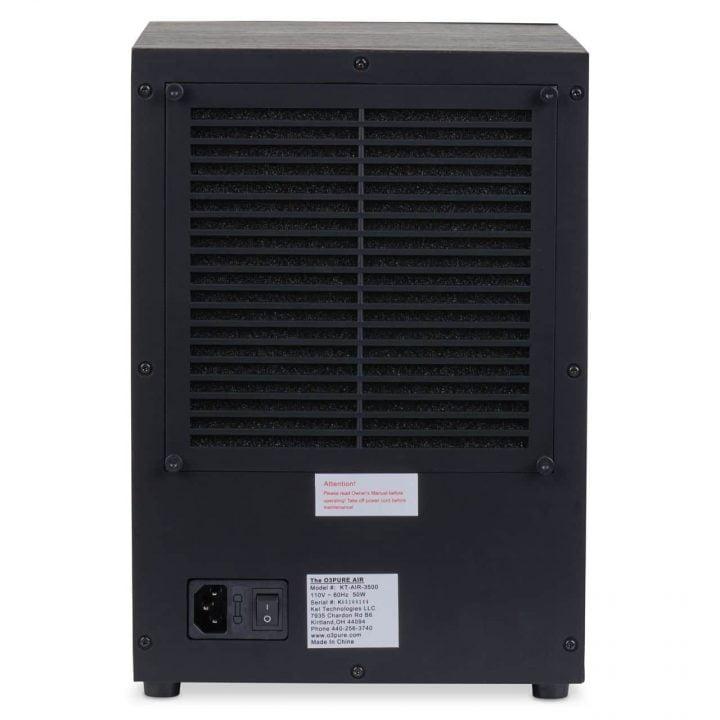 O3 Pure Air Purifier   Rear View